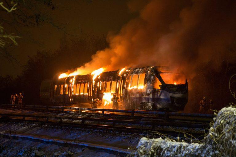 Вентилатор подпали влак