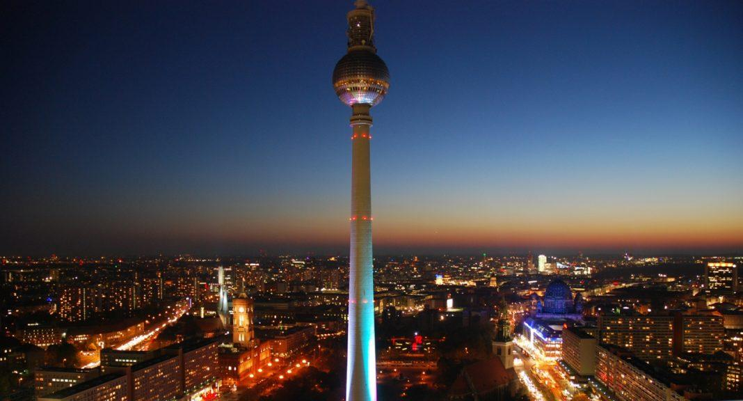 berlin night view