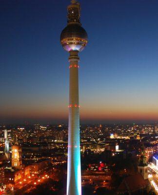 berlin night view