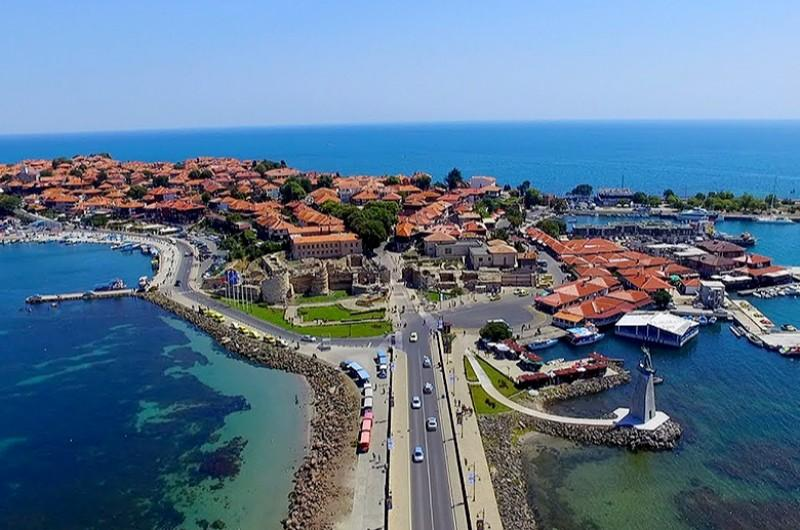 rfyHP Nessebar Panoramic View Sightseeing Bulgaria Old Town Tourist Sea Side Bulgaria