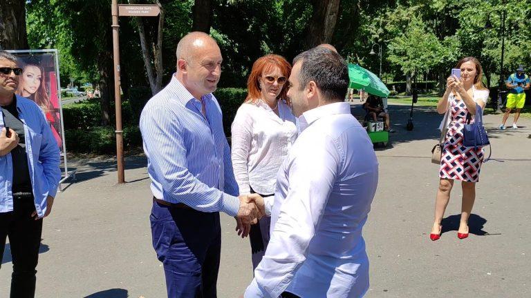 Президентът Румен Радев посети Бургас, обърна специално внимание на Константин Бачийски (ВИДЕО+СНИМКИ)