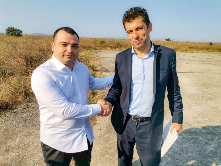 Министърът на икономиката подкрепя проекта на Константин Бачийски за второ летище в Бургас